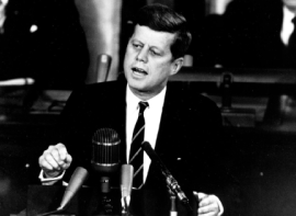 JFK giving a speech